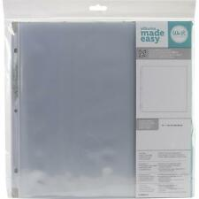 Project Life WeR Memory Keepers Page Protectors ~ Single Sheet 12x12