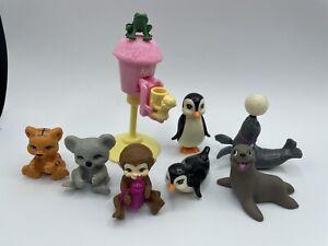 Barbie Dollhouse DIORAMA Accessory PET ZOO ANIMAL BEAR SEAL PENGUIN KOALA MONKEY