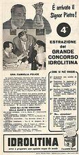 W8921 IDROLITINA - Maria Scrinzo di La Spezia - Pubblicità del 1958 - Vintage ad