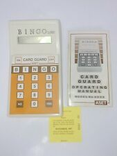 Collectible Card guard Bingo machine 80 chances to win using this vintage item