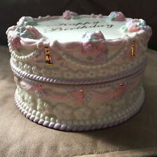 Lenox Happy Birthday Musical Cake Music Box Vintage No Origianl Box