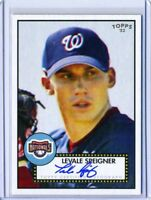 Levale Speigner 2007 Topps '52 Series Certified On Card Autograph Auto