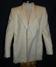 Women's Escada Eggshell White Angora Rabbit Wool Blazer Jacket sz 36 Italy