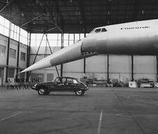 Citroën DS Citroen publicity campaign - photo Concord airplane photo racing auto