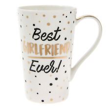 Gold Edition Gift Boxed Mug Cup with Spots & Wording - Best Girlfriend Ever