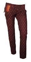 Jeans Pantalone Donna Guess Jeans Sportivo con Loghi Stampati Marrone Tg.40(W26)