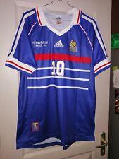 Maillot football Zidane France 1998 taille L champion du monde 98 contre Brésil