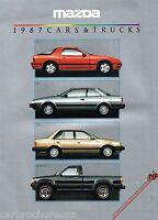 1987 MAZDA Brochure / Pamphlet: RX-7,626,323,PickUp Truck,RX7,