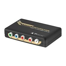 YPbPr Component RGB + R/L to HDMI Converter support 1080p Up-scaler
