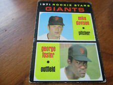 george foster (san francisco giants-of) 1971 topps ROOKIE CARD #278 VG condition