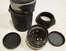 Minolta MC Rokkor-PF 1:14 f=58mm Camera Lens Japan + Case & filters    35mm film
