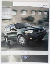 FORD ESCAPE 2003 dealer brochure catalog - French - Canada