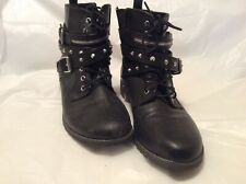 Ladies Black Boots Size 8 1/2