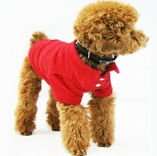 Kawaii Perro Mascota Polo Camiseta T Camiseta Jumper Collar Algodón Ropa XS Ch M