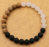 8mm Frosted obsidian Picture stone Bracelet Handmade Bead Chakas Gemstone