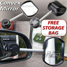 Car Van 4x4 Suck-It Suction Caravan Convex Glass Towing Extension Wing Mirror 36