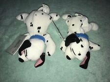 Disney Store Beanie Baby Plush Toy 10- Dalmations Lot Of 2