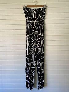 Women's KOOKAI Jumpsuit Romper Back & White Side Pocket Size 38