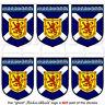 "SCOTLAND Scottish Shield 1.6"" (40mm) Mobile, Cell Phone, Mini Stickers-Decals x6"