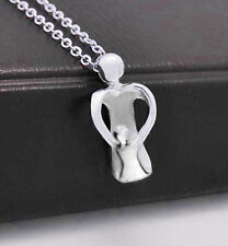 Playful Mother and Child Baby Pendant Gift For Mom - Pendant w/ chain necklace