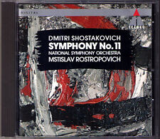 Mstislav ROSTROPOVICH: SHOSTAKOVICH Symphony 11 Year 1905 NSO CD Schostakowitsch