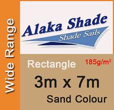 New Shade Sail - Sand Colour Rectangle 3x7m, 3m x 7m, 3 by 7m, 3 x 7m, 3mx7m