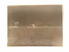 PHOTO PLAQUE DE VERRE.MILITARIA.AVION. AVIATION.1910.HYDRAVION