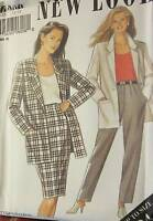 6208 Vintage NEW LOOK SEWING Pattern Misses 3-Pc Suit 12-24 UNCUT Skirt Jacket
