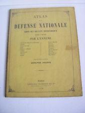 GUERRE FRANCO-PRUSSE / ATLAS DE LA DEFENSE NATIONALE carte départements envahis