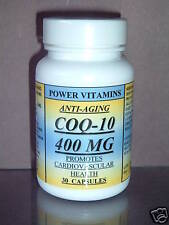CoQ-10 q-10 400mg co-enzyme, anti-aging, antioxidant. Made in USA - 30 capsules.