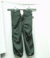Youth Practice Football Pants Slotted Black Small S NEW
