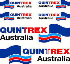 Quintrex, 4 Colour, Fishing, Boat, Mirrored Sticker Decal Set of 6