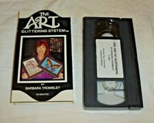 THE ART GLITTERING SYSTEM BY BARBARA TROMBLEY INSTRUCTIONAL VHS TAPE 90 MINUTES