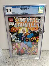 CGC 9.8 INFINITY GAUNTLET #6 MARVEL COMICS 12/91 WHITE PAGES
