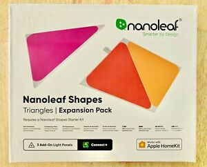 Nanoleaf Shapes Triangles Multicolor Light Panels Expansion Kit-3 Pack-FREE SHIP