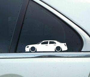2X Lowered car outline stickers - For Chrysler 300 / 300C 2nd gen (2011+) L128