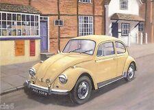 Volkswagen VW Beetle - Blank Greetings Card - Beetlemania by Kevin Walsh