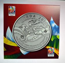 PURE FINE SILVER $20 COIN - FIFA WOMEN'S WORLD CUP 2015 - CANADA .