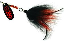 New Mepps Musky Killer Lure 3/4 oz fl red dot-black/orange BFM FL-BO