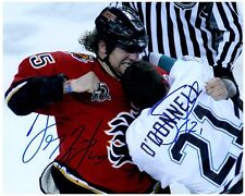 Calgary Flames DARREN MCCARTY & SEAN O'DONNELL dual Signed Autographed 8x10 B