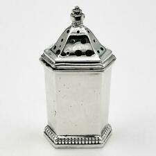 More details for george vi sterling silver pepperpot birmingham 1950 adie brothers