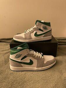 Nike Air Jordan 1 Mid SE 'Grey Pine Green' Size 9.5 DC7294-103 READY TO SHIP