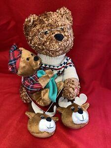 Avon 'Twas The Night Before Christmas Animated Talking Story Bear 2006 Brand New