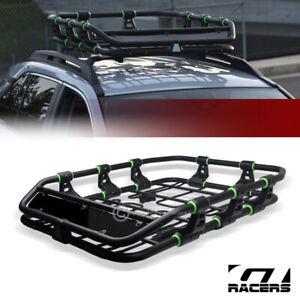 Modular HD Steel Roof Rack Basket Travel Storage Carrier w/Fairing Matte Blk G30