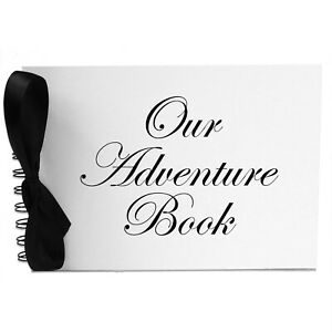 Ribbon, Our Adventure Book, Photo Album, Scrapbook, Blank White Pages, A5