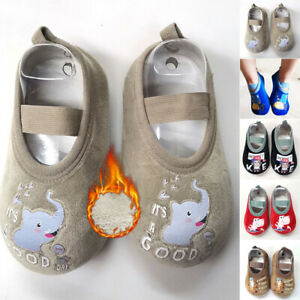New Kids Baby Toddler Cute Cartoon Non-slip Indoor Floor Socks Walking Slippers