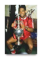 John Barnes Signed 6x4 Photo Liverpool Watford England Genuine Autograph + COA