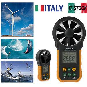 LCD Digital Anemometro Velocità del vento Air Volume metro di misura MS6252A