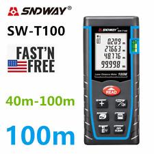 SNDWAY Laser Distance Meter Digital Range Finder 40-100M Distance Measure tape
