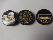 Vintage NHL Buffalo Sabres Hockey 2008 Hockey Puck Lot of 3 Daniel Briere Team